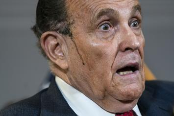 Rudy Giuliani Goes Viral After Sweating Through His Hair Dye