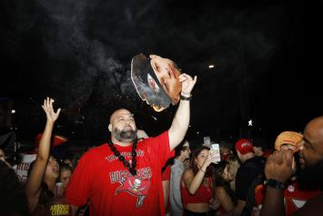 Buccaneers Fans Crowd The Streets Following Super Bowl Triumph