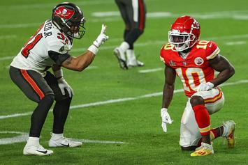 NFL Fines Antoine Winfield Jr. $7,815 For Taunting Tyreek Hill During Super Bowl