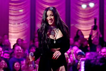 Cardi B Strips Down To G-String To Show Off Long Hair & Back Tattoo