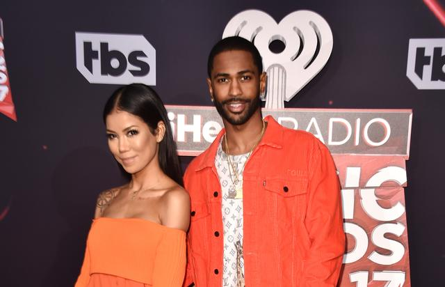 Big Sean and Jhene Aiko at the 2017 iHeart Radio Music Awards