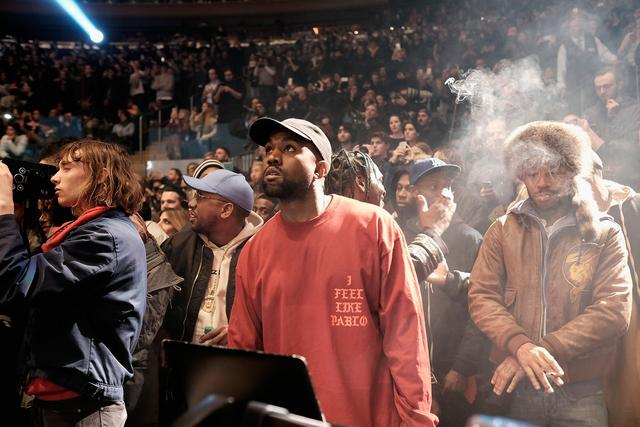 Kanye West at Yeezy Season 3 debut