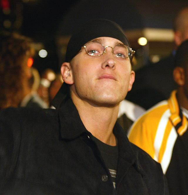 Eminem at 8 Mile premiere in 2002