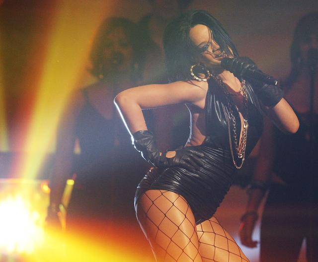 Singer Rihanna performs during The Dome 42 music show at the TUI Arena May 25, 2007 in Hanover, Germany