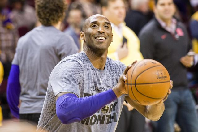 Kobe Bryant at Los Angeles Lakers v Cleveland Cavaliers