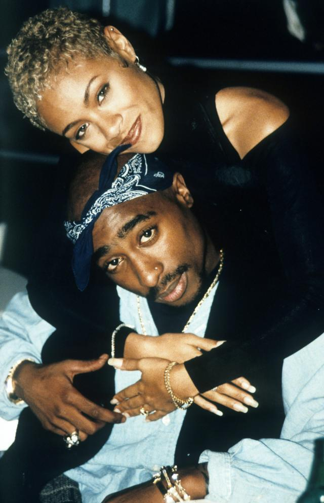 Tupac and Jada Pinkett Smith