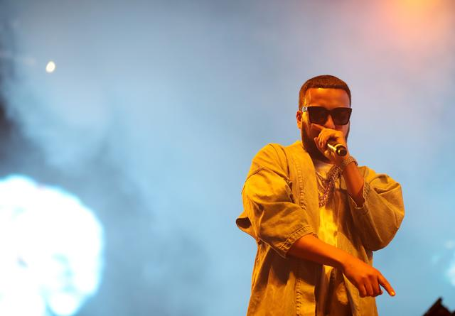 French Montana performing at Coachella