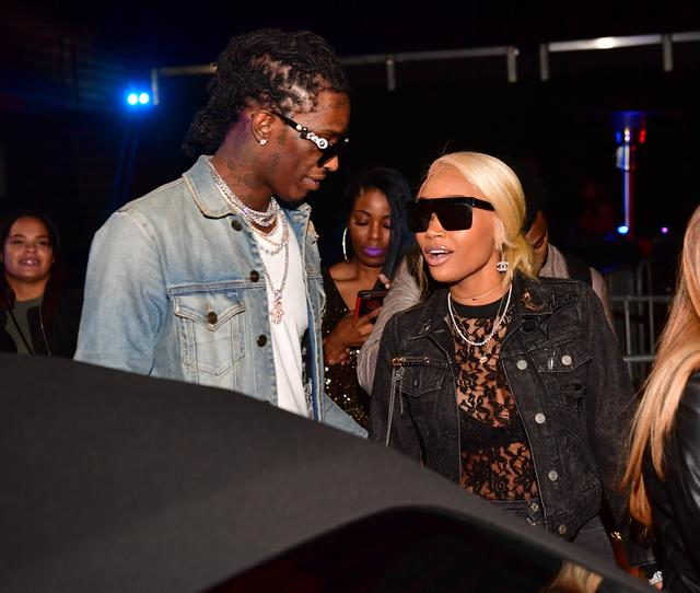 Young Thug and Jerrika Karlae at the Migos Culture release party