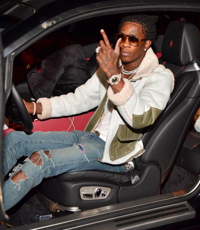Young Thug pulling up in Atlanta