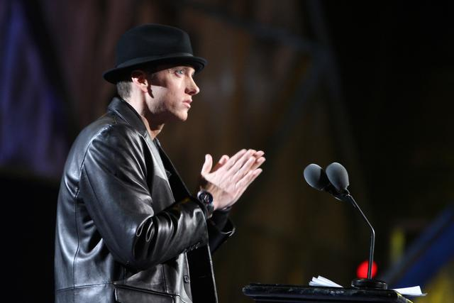 Eminem at Rock 24th Rock and Roll hall of fame