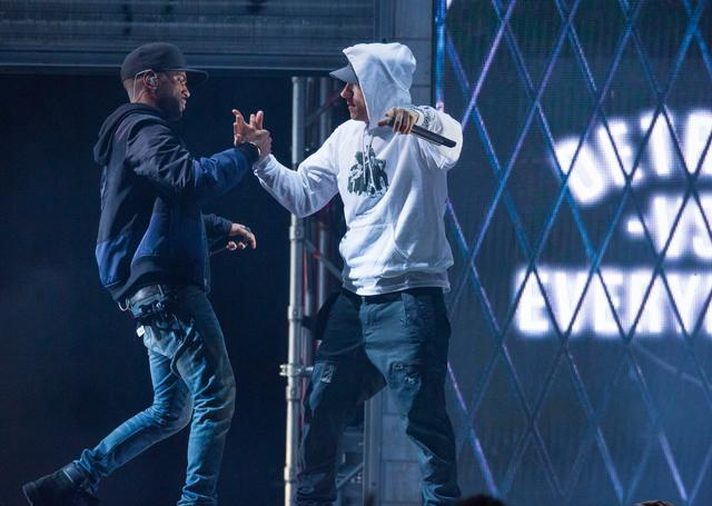 Big Sean and Eminem together in Detroit