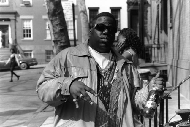 Notorious BIG with a bottle of St Ides