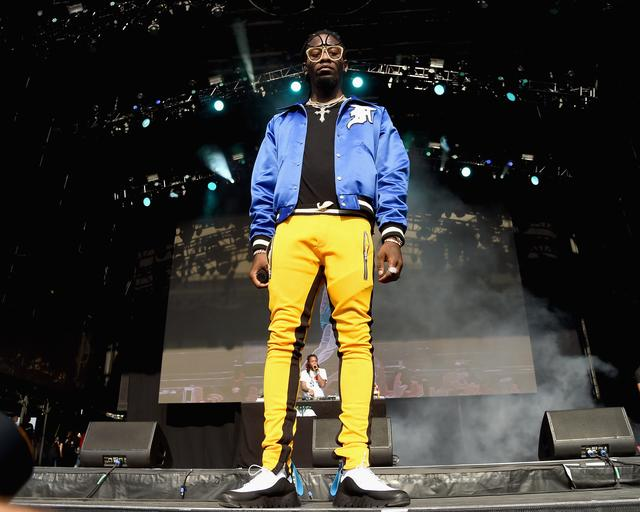 Offset looming over the stage 2017