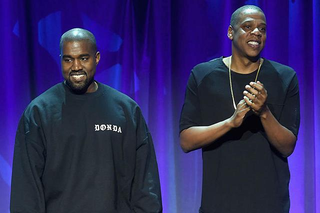 Kanye West and Jay-Z at TIDAL launch
