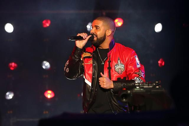 Drake at NBA All Star Game 2016