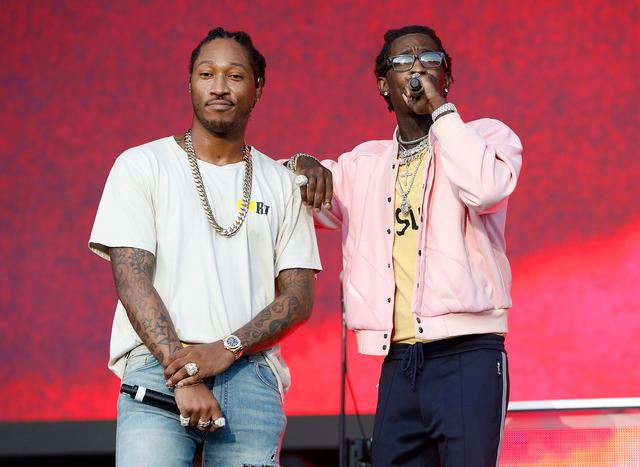 Future and Young Thug performing at the Meadows festival