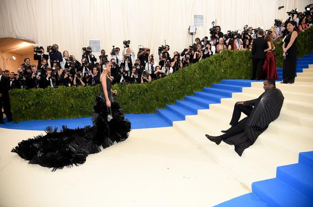 Cassie and Diddy at the MET Gala looking extravagant