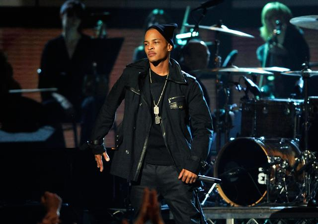 T.I. performing at the Grammys