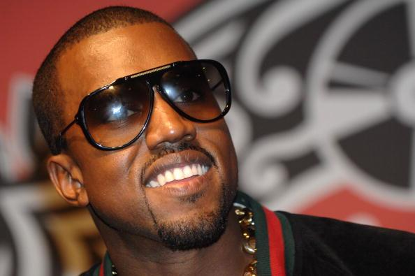Kanye West with shades on
