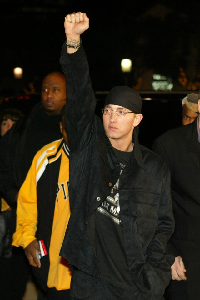 Eminem at the 8 Mile movie premiere