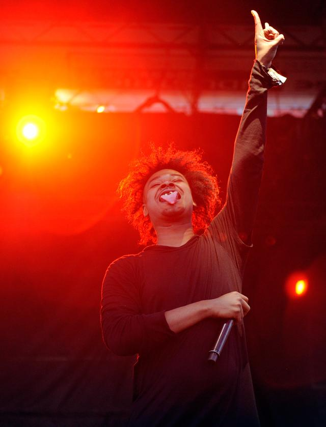 Danny Brown with his tongue out