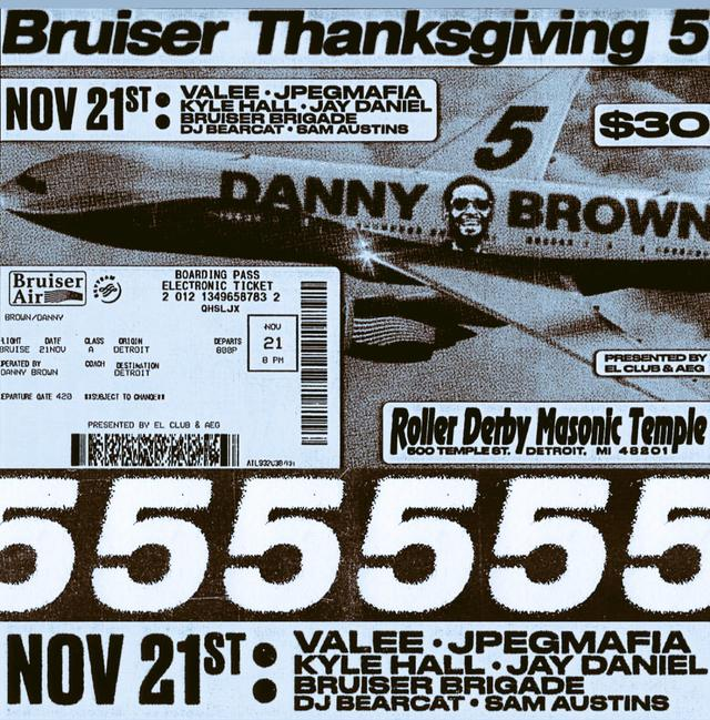 Danny Brown's Bruiser Thanksgiving flyer