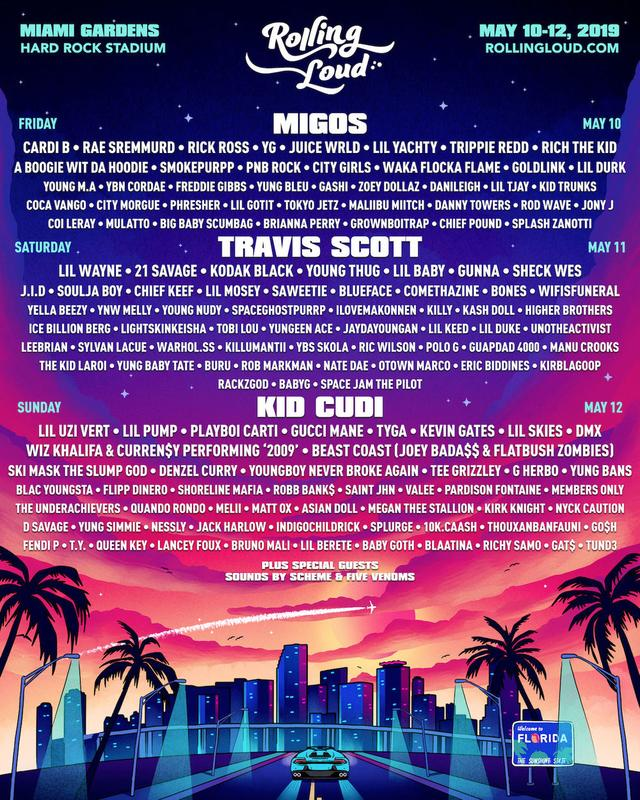 Rolling Loud official flyer