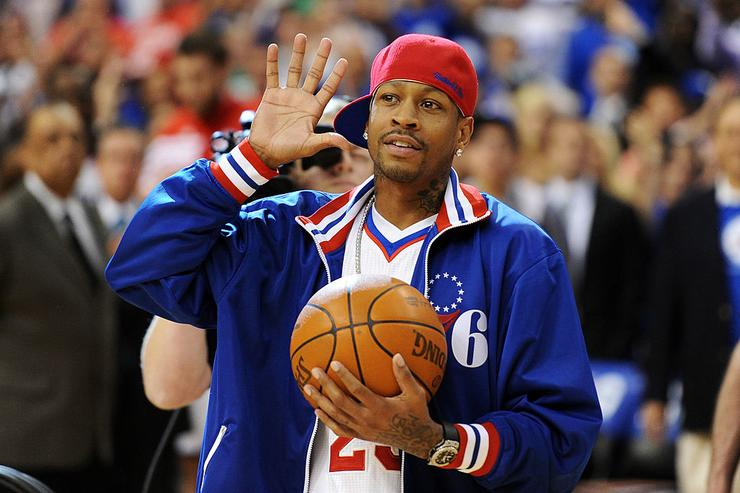 Celebrity Sneaker Watch: Allen Iverson Laces Up In All