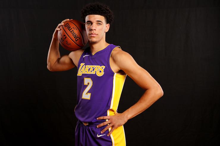 Lonzo Ball NBA Rookie photo shoot