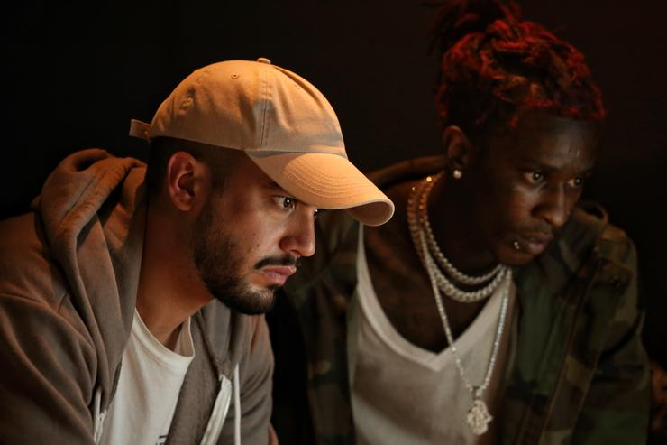 Alex Tumay and Young Thug in the studio