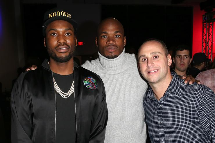 Michael Rubin, Meek Mill and NFL player Adrian Peterson