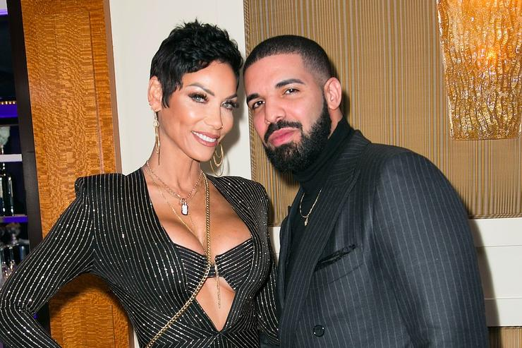Drake Attends Nicole Murphy S Surprise 50th Birthday Party