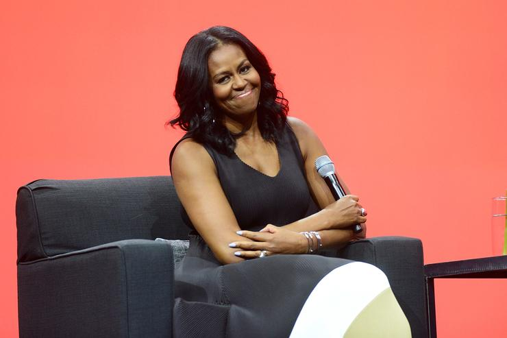 Michelle Obama Thanks Husband, Fans For The