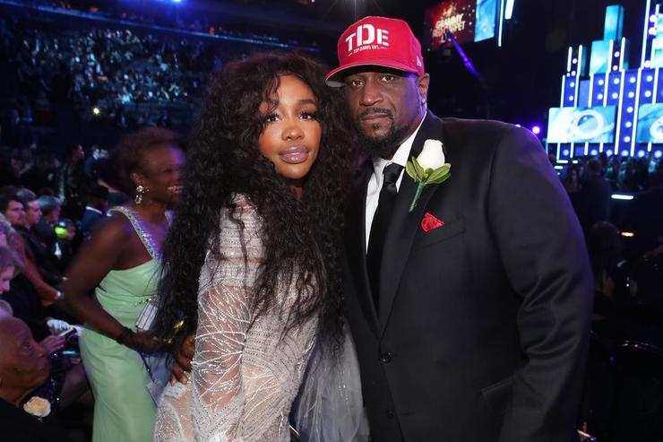 SZA and Top Dawg at the 2018 Grammys