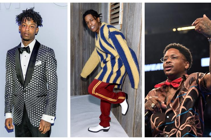 21 Savage, ASAP Rocky and YG all on FIRE EMOJI playlist