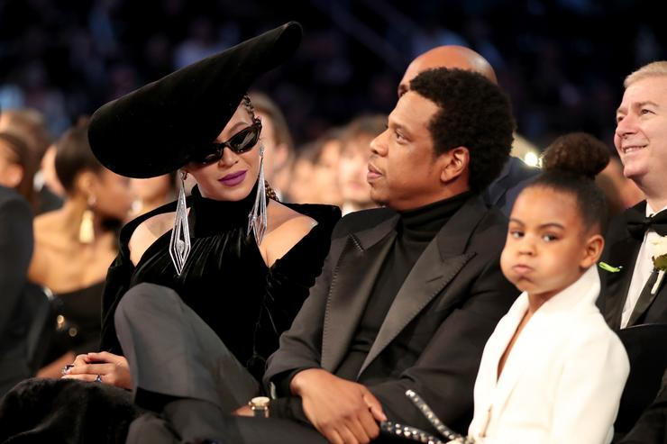 Going once! Watch Blue Ivy Carter bid $19000 at art auction