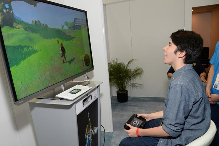 Actor Sloane Morgan Siegel got an exclusive look at the latest Zelda for Wii U game while attending the 2016 E3 Gaming Convention at Los Angeles Convention Center on June 14, 2016 in Los Angeles, CA