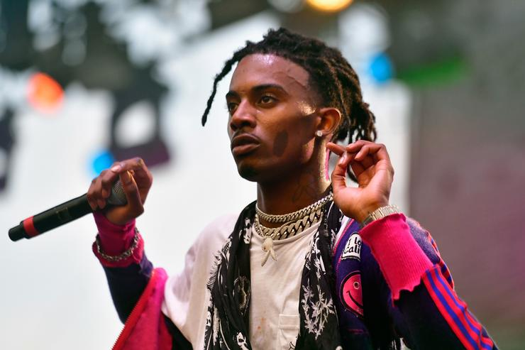 Playboi Carti performing at Camp Flog Gnaw