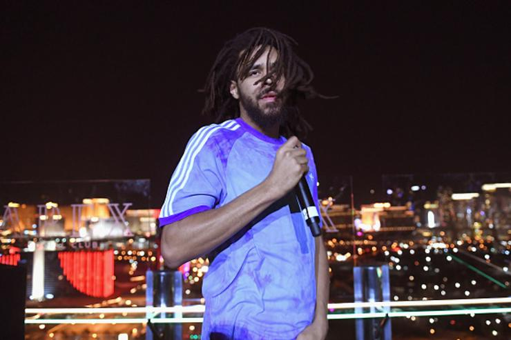 Recording artist J. Cole performs during the From Dust To Gold preview party at the Apex Social Club at Palms Casino Resort on May 17, 2018 in Las Vegas, Nevada.