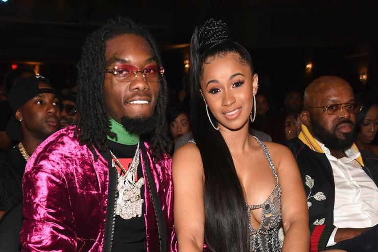Cardi B's pregnant dog couldn't wait for rapper to give birth