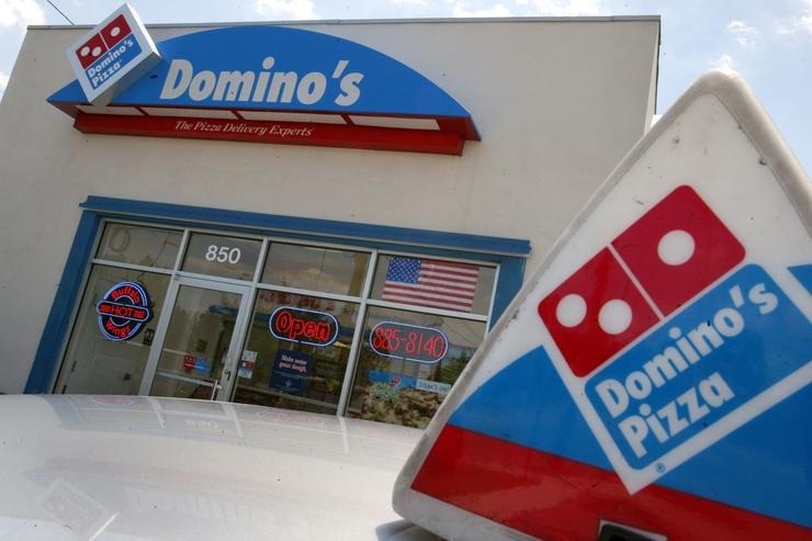 Front of Domino's Pizza Restaurant