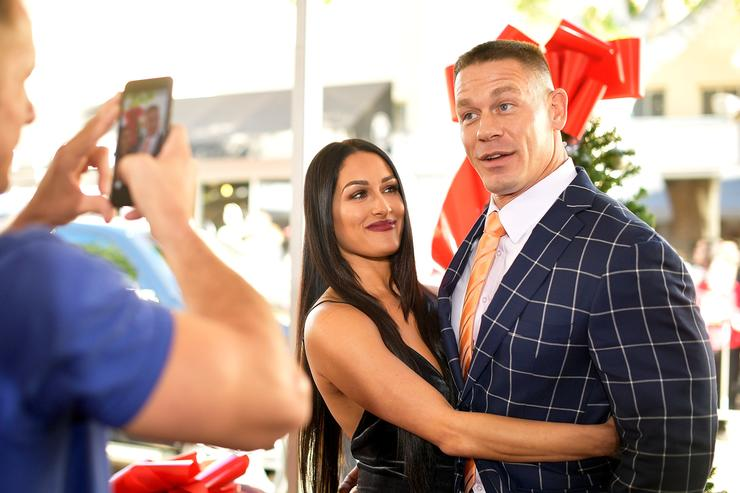 Nikki Bella insists she's just friends with John Cena