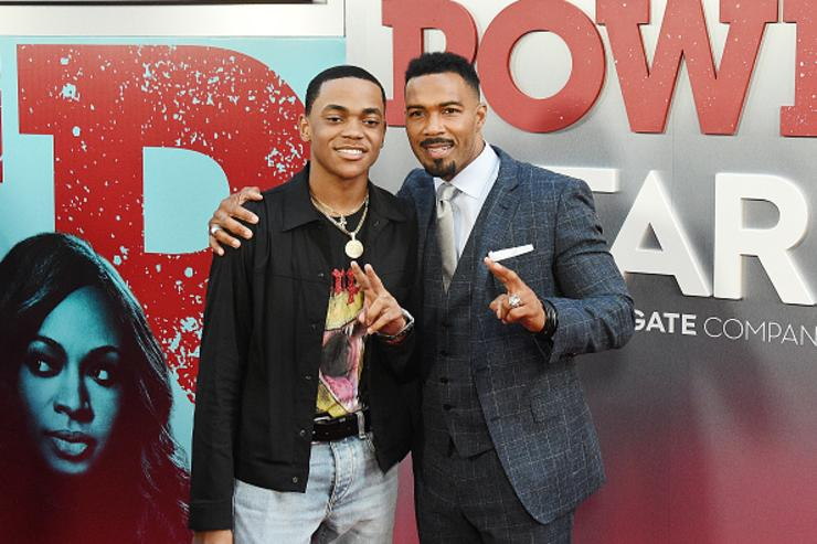 Michael Rainey Jr. and Omari Hardwick attends the 'POWER' Season 5 Premiere at Radio City Music Hall on June 28, 2018 in New York City.