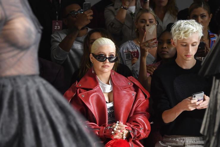 Christina Aguilera Reacts to Nicki Minaj and Cardi B's NYFW Fight