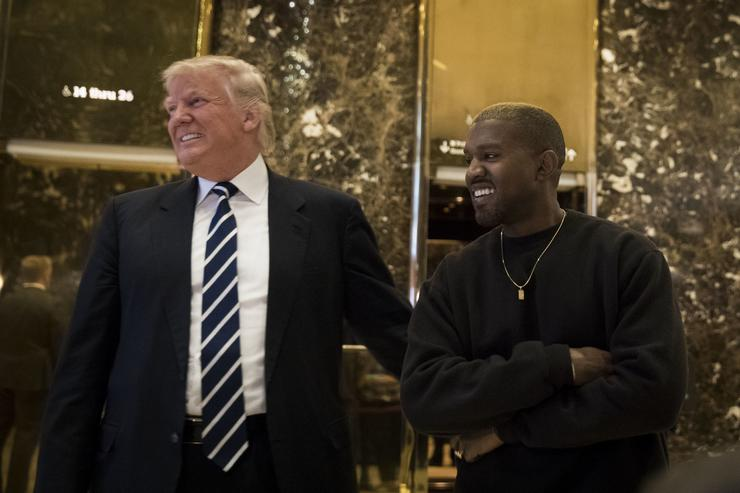 Kanye West Rambles Like Trump In White House Meeting""