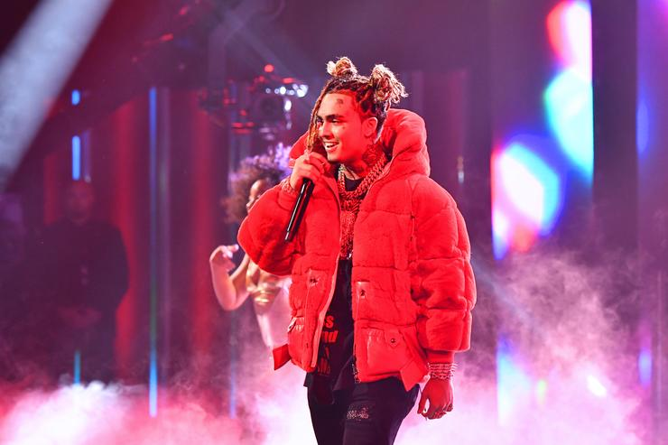 Lil Pump performing at BET