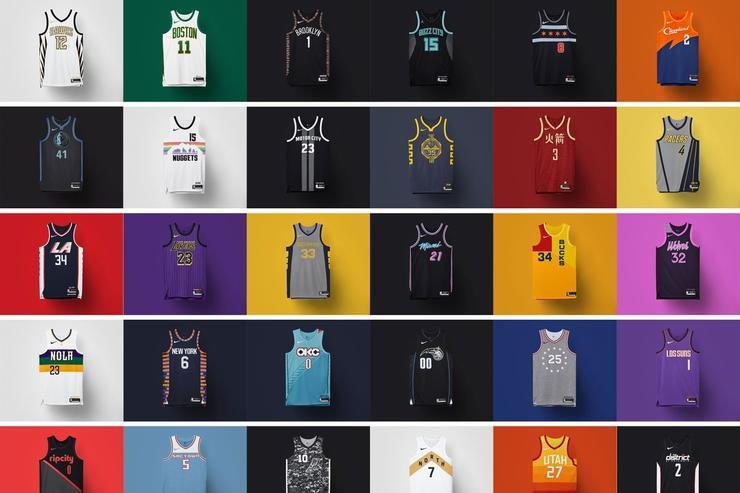 2018-19 NBA City Edition uniforms