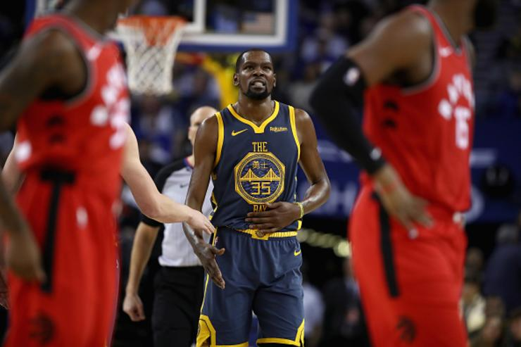 Raptors rout Warriors without Kawhi Leonard to complete sweep