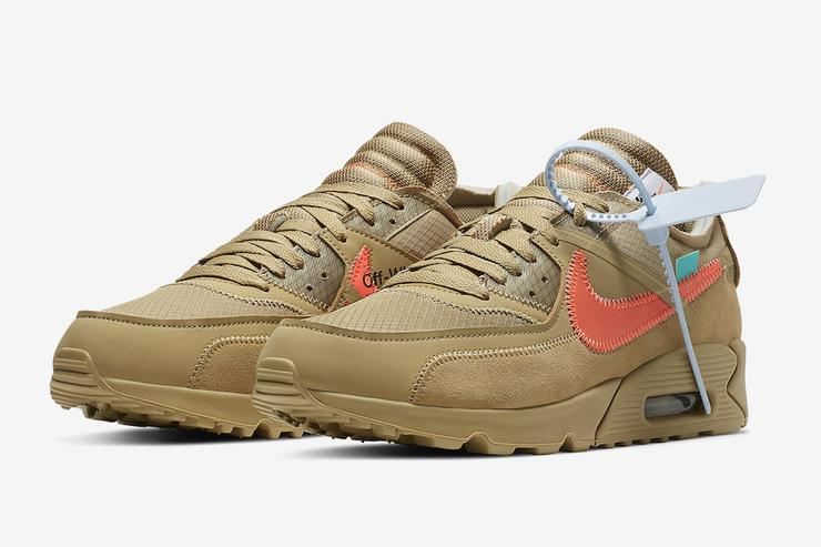 Off White X Nike Air Max 90 Desert Ore Coming Soon Official Images