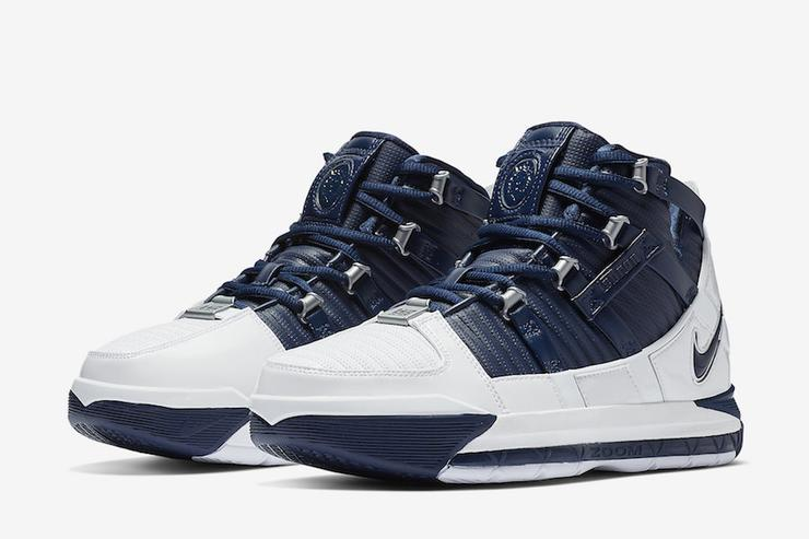 White/Navy LeBron 3